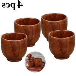 4Pcs Antiseptic Wood <font><b>Cup</b></font> <font><b>Set</b