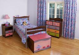 5 Piece Girls Like Tea Sets Chocolate Finish Bedroom Set