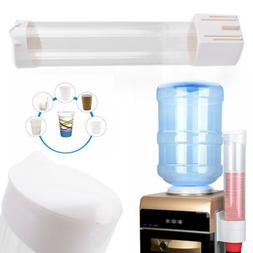 50 Cups Paper Cup Dispenser Plastic Disposable Water Coolers