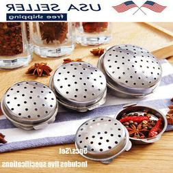 5PCS Kitchen Stainless Seasoning Box Steel Soup Ball Tea Bal