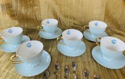 Jusalpha Fine China Tea Cup and Saucer Coffee Cup Set w/ Sa