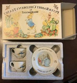 6 Piece Peter Rabbit Children's Tea Set by Wedgwood Plates T