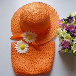 6 Sets Girls Tea Party Hats Sunflower Bonnet for Kids Little