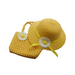 6 Sets Girls Tea Party Hats Sunflower Bonnet for Birthday Li