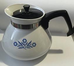 Cornflower Blue 6 Cup Stove Top Tea Pot