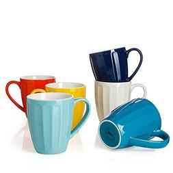 Sweese 6209 Porcelain Mugs - 14 Ounce for Coffee, Tea, Cocoa