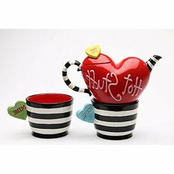 62366 Teapots & Coffee Servers Valentine Striped And Heart M
