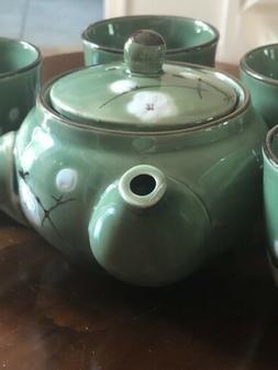 7 Piece Chinese Tea Set Traditional Porcelain Tea Pot 4 Cups