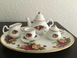 7 Piece Royal Albert Old Country Roses Mini Tea Set