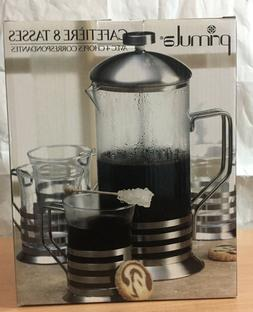 Primula 8-Cup Glass Coffee Press with 4 Matching Mugs