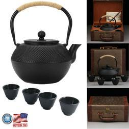 800ml Japanese Tetsubin Style Iron Tea Pot Kettle Teapot Cup