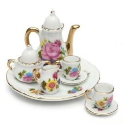 8pcs/Sets Porcelain Tea Set Teapot Vintage Style Coffee Teac