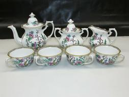 "9 Piece Vintage Wedgwood Indian Tree Pattern Bone China ""Cof"