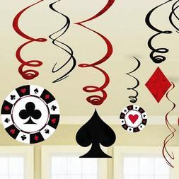 9pcs/<font><b>set</b></font> Foil Casino Hanging Dangling Sw