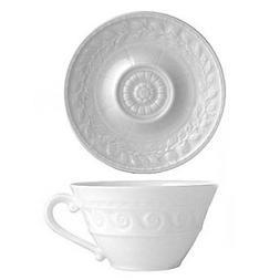 Bernardaud Limoges porcelain Louvre Tea Cup and Saucer set