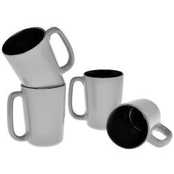 Culver SLAT Mug, 16-Ounce, Grey Black, Set of 4