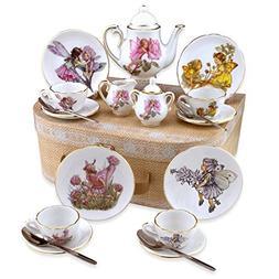 Flower Fairies Child's Tea Set By Reutter Porcelain -  Dishw