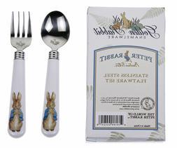 Golden Rabbit Child Fork & Spoon Set, Peter Rabbit