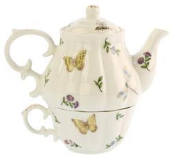 Gracie China Olivia's Dragonflies 3-Piece Porcelain Tea For