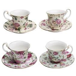 Gracie China Rose Chintz Porcelain Petite 3-Ounce Espresso/D