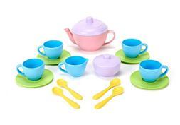Green Toys Tea Set - BPA Free, Phthalates Free Play Toys for