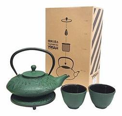Happy Sales HSCT-MBG07, Cast Iron Tea Pot Tea Set Mochi Bamb