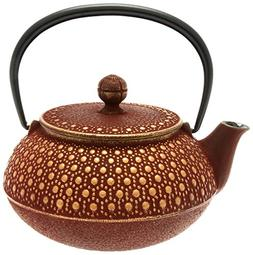 Iwachu Japanese Iron Tetsubin Teapot, Honeycomb, Gold and Bu