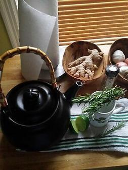 Joyce Chen 90-0007, Ceramic Tea Kettle, 2-Quart, Ebony