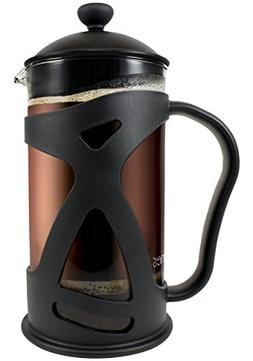 KONA French Press Coffee Maker With Reusable Stainless Steel