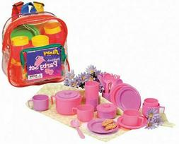 Kidzlane Play Tea Set, 15+ Durable Plastic Pieces, Safe and