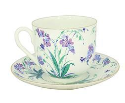 Lomonosov Porcelain Bone China Cup and Saucer Tiny Forget Me