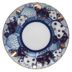 Lomonosov Porcelain Cake Dessert Plate Church Bells 7 inches