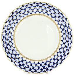 Lomonosov Porcelain Cake Dessert Plate Cobalt Net Plate 7 In