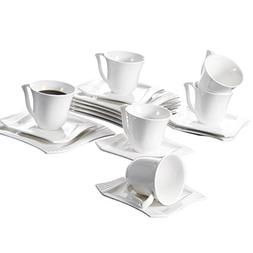 Malacasa, Series Amparo, Ivory White Porcelain Afternoon Tea