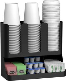 Mind Reader 6 Compartment Upright Breakroom Coffee Condiment