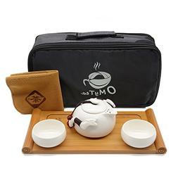 """OMyTea® """"Double Dragons"""" Portable Travel Tea Set with a Por"""