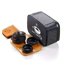OMyTea Portable Travel Tea Set - 100% Handmade Chinese/Japan