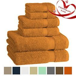 Premium, Luxury Hotel & Spa, Turkish Cotton 6-Piece Towel Se