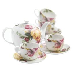 Royal Albert Country Rose 9 Piece Tea Set