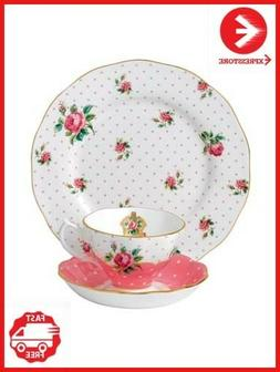 Royal Albert New Country Roses Cheeky Pink 3 Piece Set