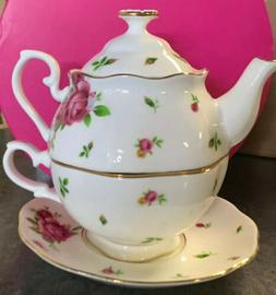 Royal Albert Old Country Roses for One Tea Pot, 16.5 oz, Mul