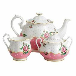 Royal Doulton 3-Piece New Country Roses Tea Party Cheeky  Se