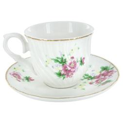 Summertime Gardens Tea Cups and Saucers - Set of 6
