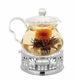 Tea Beyond Glass Teapot Fairy 20 oz with Stainless Steel Tea