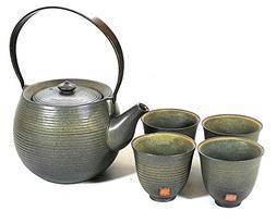 Tea Branch - Mia, Tea Set For 4, Tea pot 19.6 oz, 4 Tea Cups
