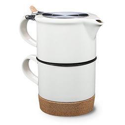 Tea Branch - Renee, Modern Single Tea Set For One, Tea Mug,