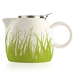 Tea Forte PUGG 24oz Ceramic Teapot with Improved Stainless T