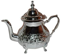Tea Serving Moroccan Serving Tea Pot Handmade Silver Platted