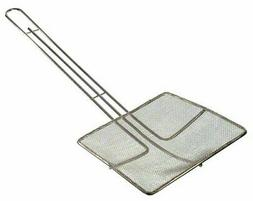 "Update International  6 3/4"" Nickel-Plated Square Fine Mesh"