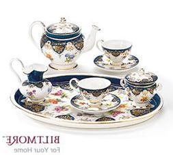 Vanderbilt Porcelain Miniature Teaset Designed From Biltmore